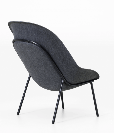De Vorm Nook PET Felt Lounge Chair - Tom Kantoor & Projectinrichting