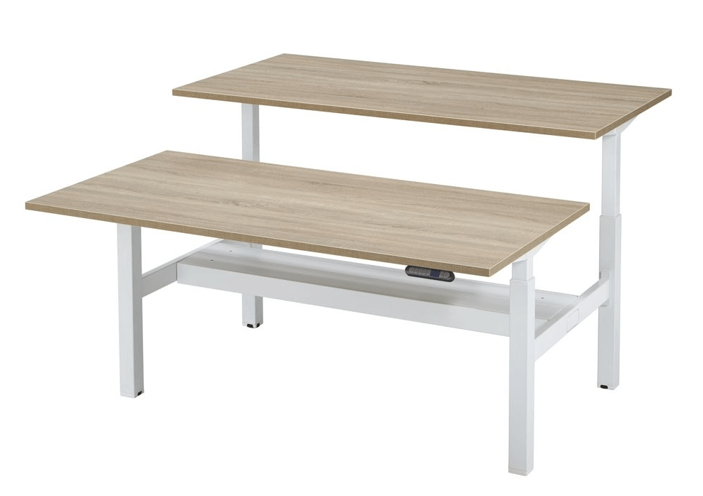 Elektrische Duo Bench Werkplek 2 X 160 x 80 cm - Tom Kantoor & Projectinrichting