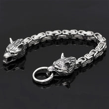 Load image into Gallery viewer, CC™ Wolf of Asgard Steel Bracelet