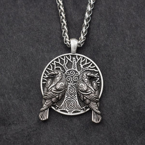Hugin and Munin Pendant