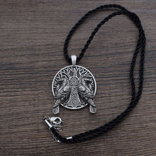 Load image into Gallery viewer, Hugin and Munin Pendant