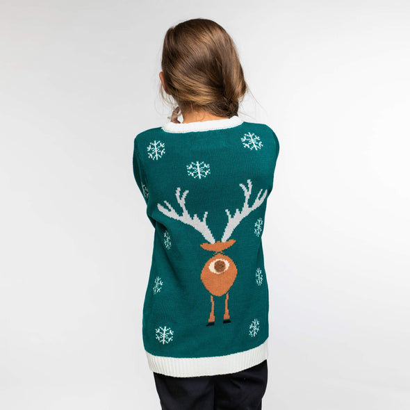 Enfants vert Make It Rein Pull de Noël Christmas Sweater Kids SillySanta