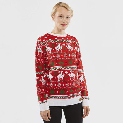 Femmes Happy Humping Pull de Noël Christmas Sweater Womens SillySanta