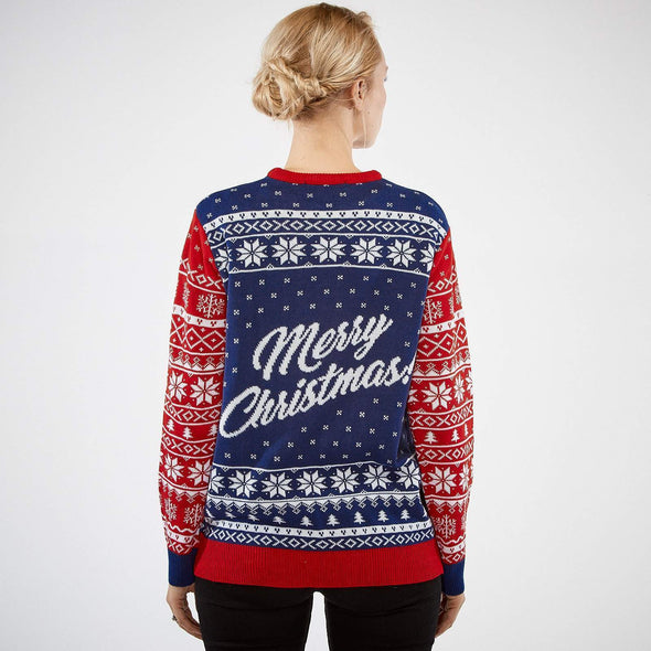 Femmes Naughty or Nice Pull de Noël Christmas Sweater Womens SillySanta