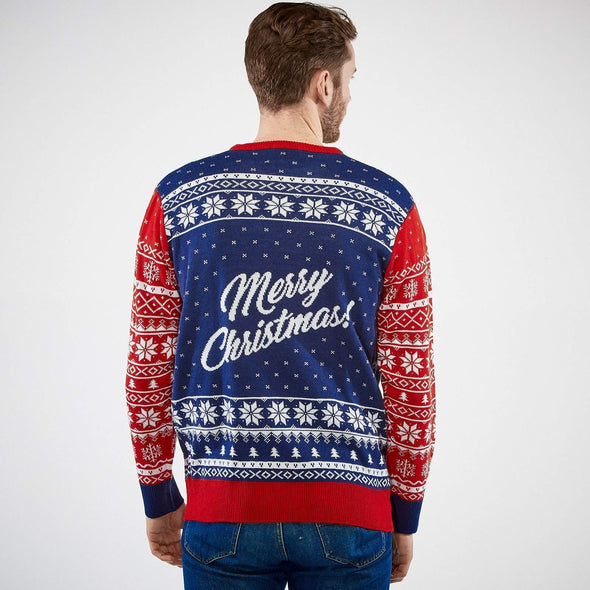 Hommes Naughty or Nice Pull de Noël Christmas Sweater Mens SillySanta