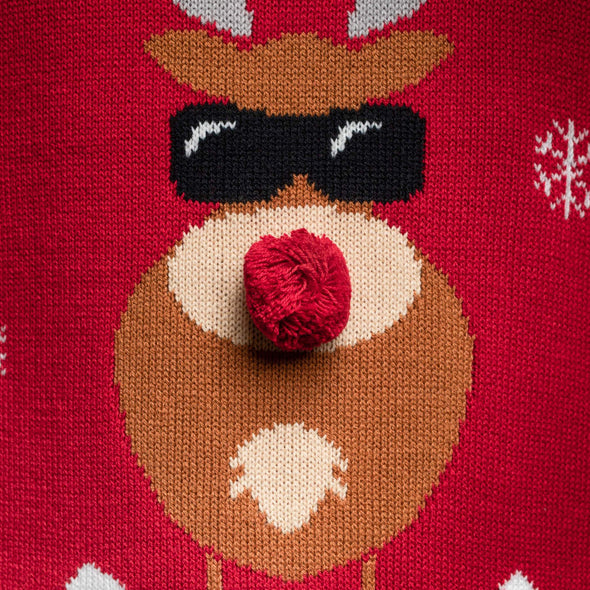 Hommes rouge Make it Rein Red Pull de Noël Christmas Sweater Mens SillySanta