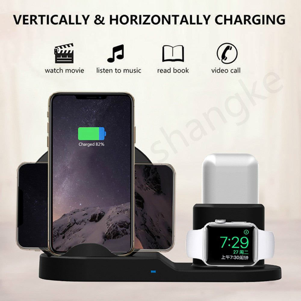 Wireless Charging Stand for iPhone, AirPods & Apple Watch - WobbleKart