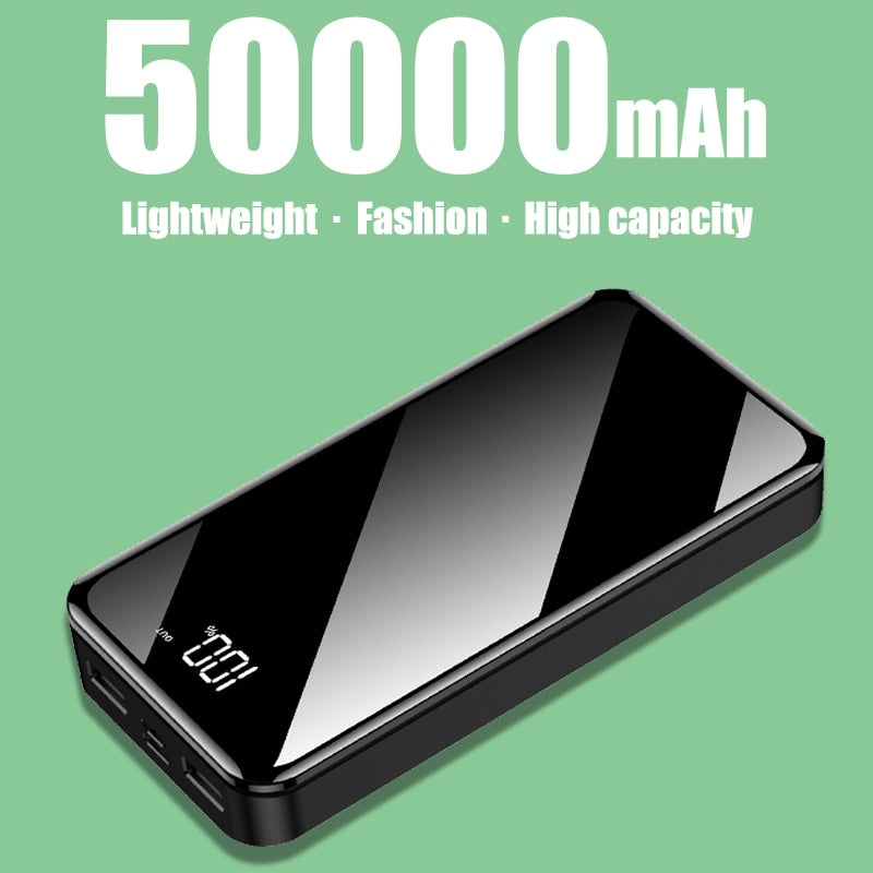 50,000 mAh Power Bank 2 USB Ports With LED Display - WobbleKart