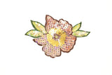 Shiny Rose Sequin Flower Iron on Embroidered Patch / Applique / Iridescent