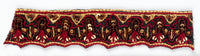 Burgundy and Gold Handcrafted Indian Trim - Target Trim