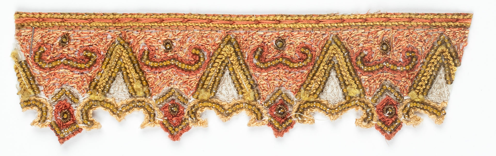 Hand Beaded Sew-on Indian Trim