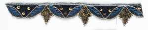 Patterned beaded Indian trim with Decorative Sari Border - Target Trim