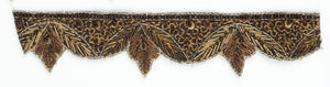 Patterned beaded Indian trim with Decorative Sari Border