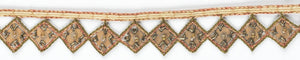 Diamond-shaped Indian Sequined Trim - Target Trim