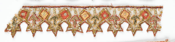 Orange/Green Star Shape Handcrafted Indian Trim - Target Trim