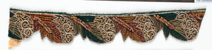 Floral Beaded Handcrafted Indian Trim WITH Fur - Target Trim