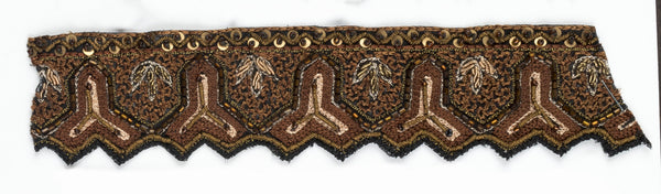 Y-shaped Indian Handcrafted Beaded Trim- Design 2 - Target Trim
