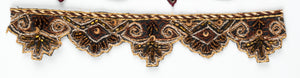 Floral Scallop Edge Handcrafted Indian Beaded Trim - Target Trim