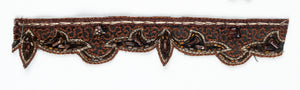Brown Straw Beaded Handcrafted Indian Trim