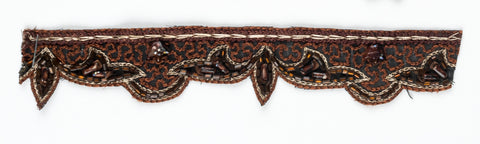 Brown Straw Beaded Handcrafted Indian Trim - Target Trim