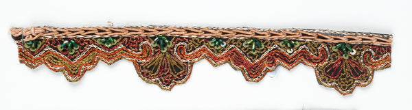 Multi-Color Handcrafted Indian Trim with Sequins - Target Trim