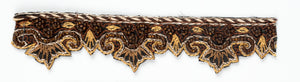 Brown Chic Mehndi Style Handcrafted Indian Trim