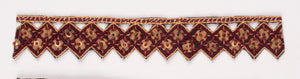 Triangular Handcrafted Indian Trim with Sequins