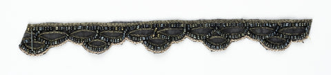 Black Beaded Handcrafted Indian Trim - Target Trim