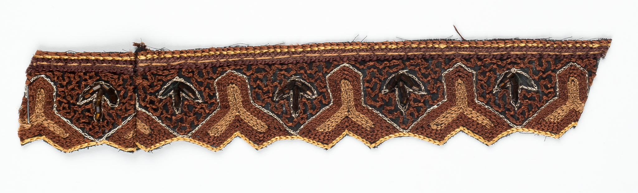 Y-Shaped Handcrafted Indian Floral Trim- Design 1 - Target Trim