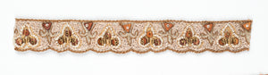 Fleur de lis and Spade Shape Handcrafted Indian Trim