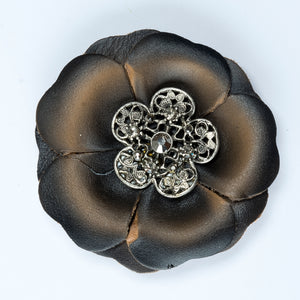 Vintage Flower Applique / Brooch / Adornment for any Clothing or Garment Projects