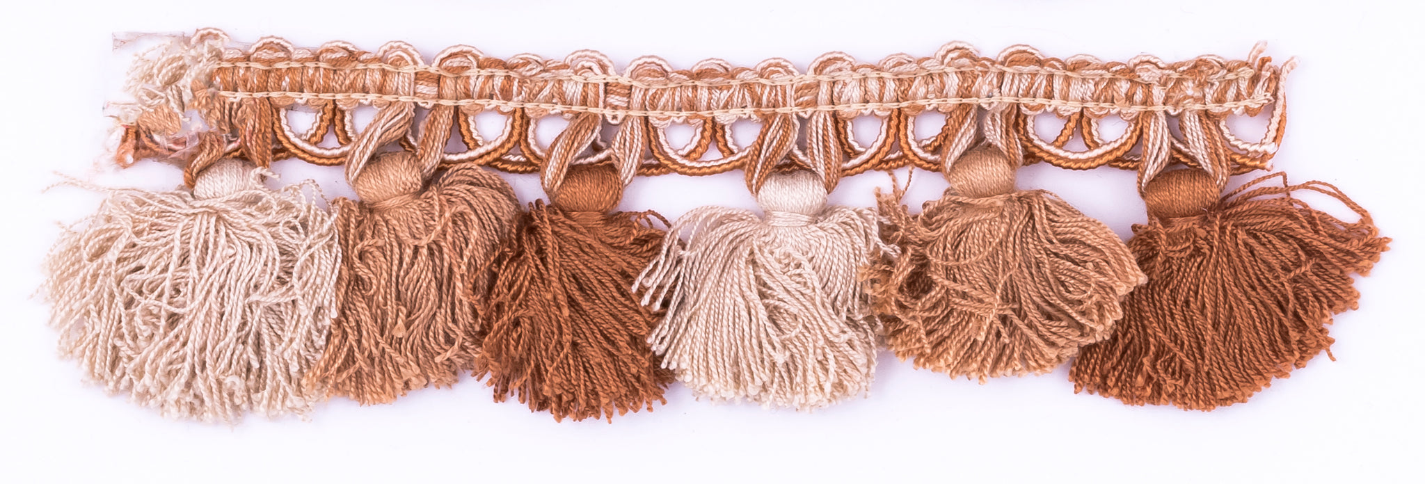 Cream Tri-Color Tassel Fringe- Design 2 - Target Trim