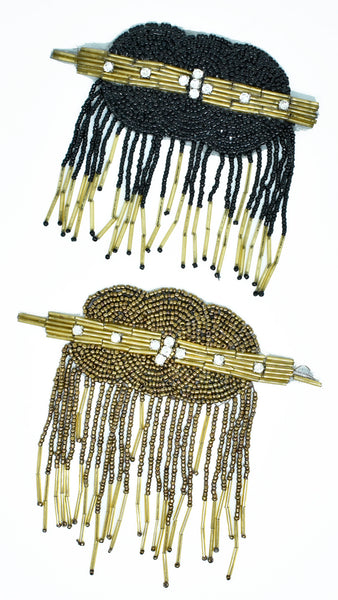 Uniquely designed iron on Patch / Bugle Beads / Rhinestones / Hats