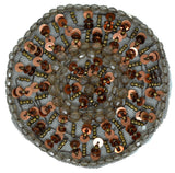 "Round Sequins/Beaded Patch 3.50"" - 1 Piece"