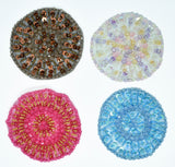 Round Beaded /Sequins Patch  Sew on Mesh Fabric / Apparels / Decorative