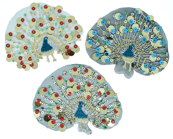 Peacock Sequined  Patch/Applique