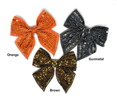 Sequins and Bugle Beaded Bow Ties 4