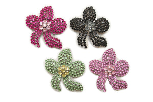 Assorted Color Rhinestone Brooch