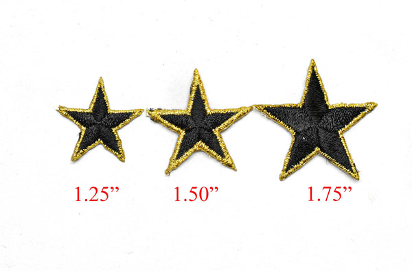 "Embroidered Star Applique- Iron-on Star Patch - 2"" -  1 Piece"