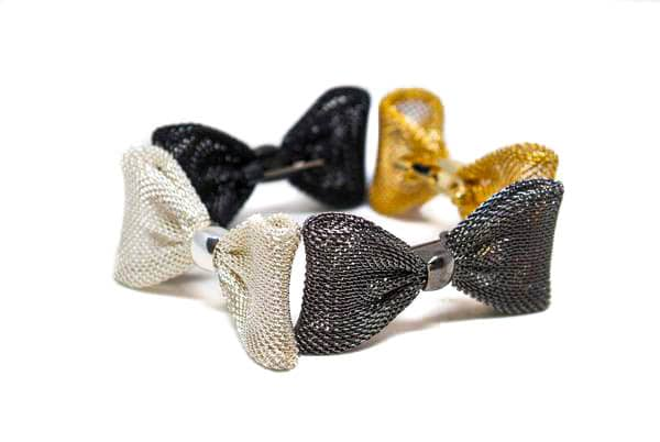 Small Decorative Metal Bows with Pin