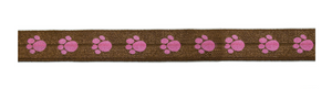 "5/8"" Paw Print Fold-Over Elastic - Target Trim"