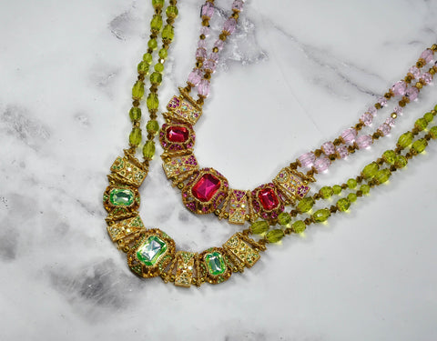 Gorgeous Rhinestone Beaded Necklace