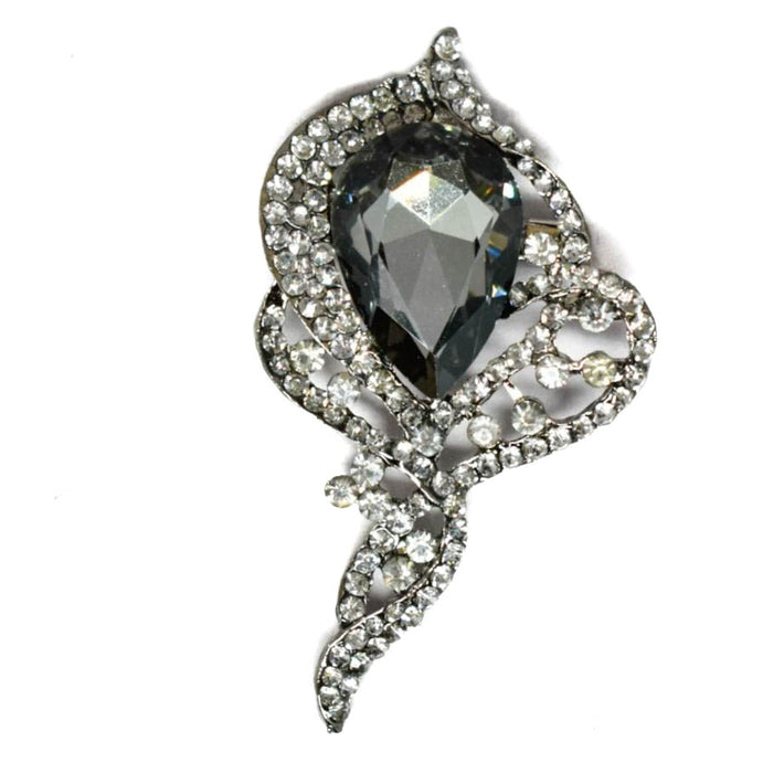 "Crystal Rhinestone Brooch 3"" x 1.75""- 1 Piece"