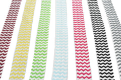 Chevron Print Fold-Over Elastic 5/8