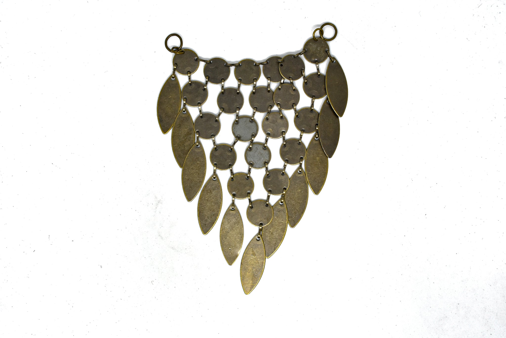 "4""x5"" Dangling  Gunmetal and Bronze Tear Drop Connector"