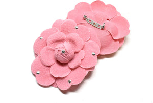 "Pink Rose Pin with Rhinestone 2 3/4"" - 1 Piece"