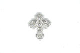Crystal Rhinestone Cross-Shaped Brooch with Pin