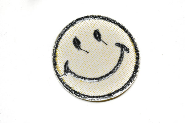 "2 1/2"" Smiley Face Iron-On Patch"