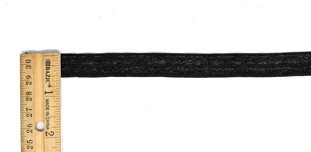 "Black Folder-Over Elastic 5/8""  (200 Yard Roll)"