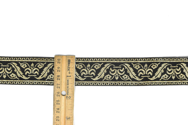 "1 3/8"" Metallic Jacquard Ribbon"